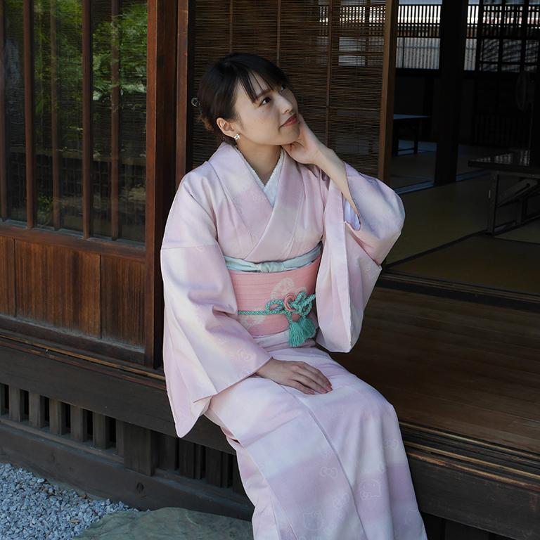 桐生織の着物と帯