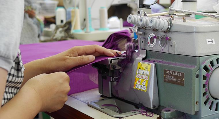 縫製の様子
