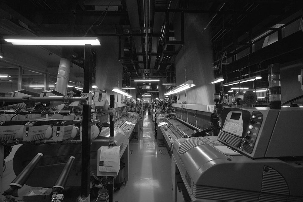 織物工場の様子